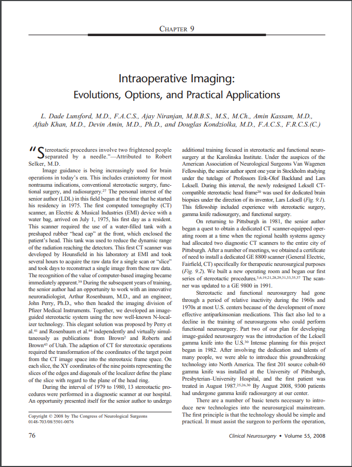 Intraoperative Imaging: Evolutions, Options, and Practical Applications